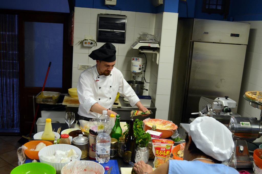 Chef Gabriele Giocucci at La Gioconda. In the kitchen. Photo by Jamie Perkins